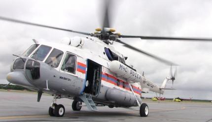 На месте крушения вертолета Ми-8 найдено тело пилота