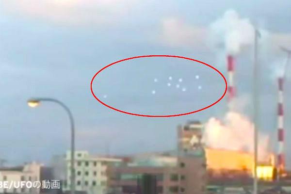 Сразу десять НЛО в небе сняли на видео в Японии