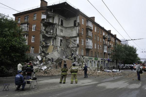 В Перми рушится фасад еще одного жилого дома