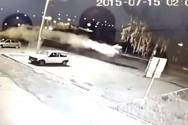 Опубликовано видео страшного ДТП с байкером из Башкирии