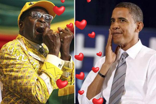 Президент Зимбабве решил жениться на Обаме после легализации однополых браков в США