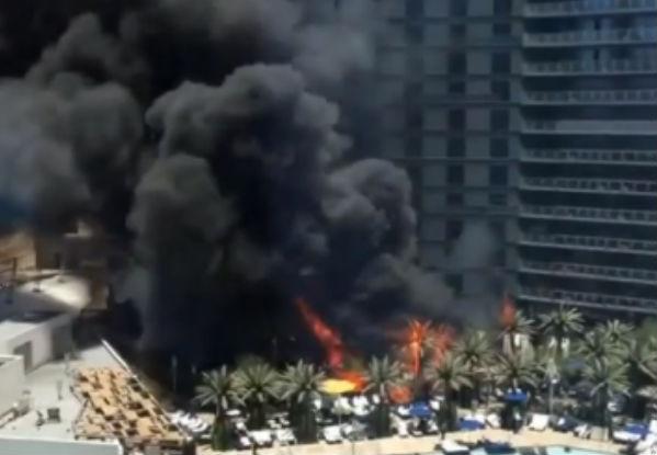 2 человека пострадали во время пожара в крупнейшем отеле Лас-Вегаса