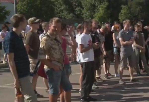 В Киеве проходит митинг возле посольства России