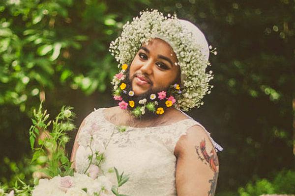 Бородатая невеста удивила своими фото интернет-пользователей