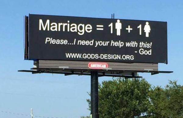Владельцы ЗАГСа скупили 1000 билбордов для антирекламы гей-браков