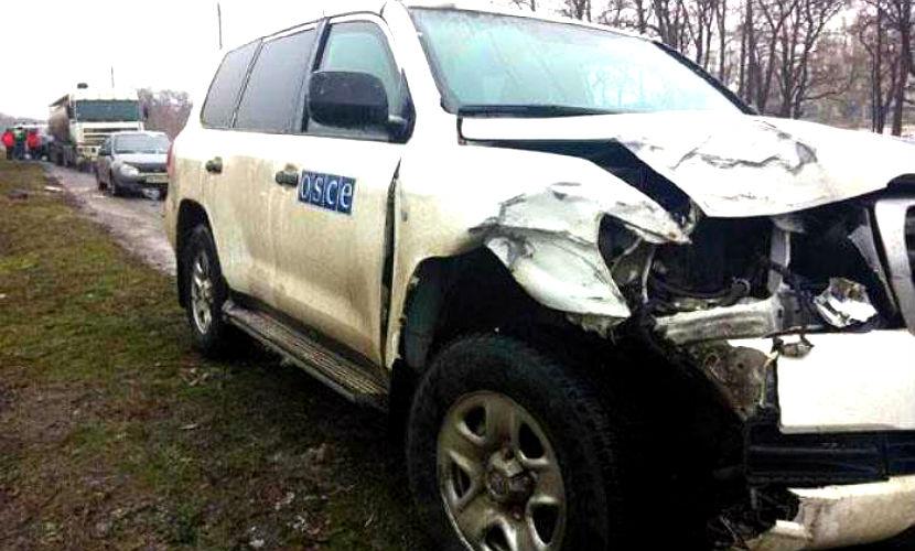 Автомобиль с сотрудниками ОБСЕ устроил ДТП в Донецкой области