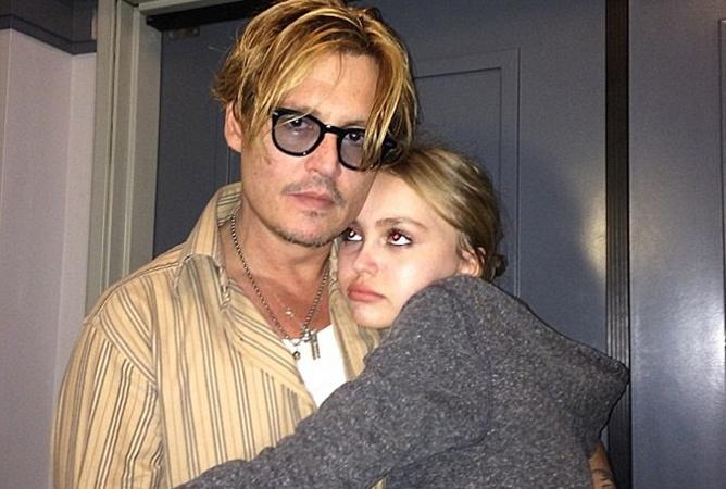 джонни депп с дочерью