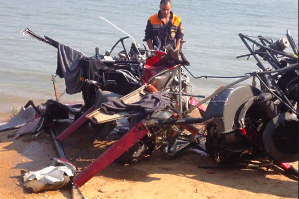 Гидроплан перед столкновением с вертолетом вылетел с нелегального пляжа