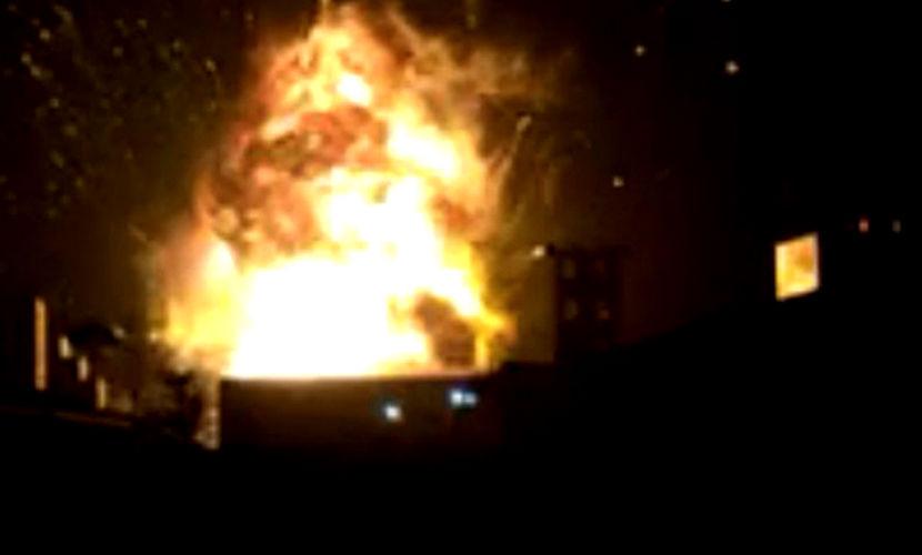Новый взрыв на химзаводе в Китае попал на видео