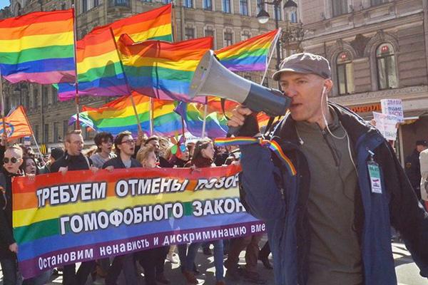 В Санкт-Петербурге за мелкое хулиганство задержали руководителя ЛГБТ-движения