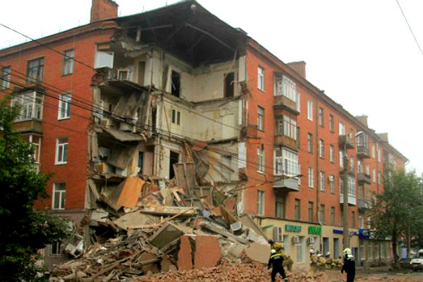 Пятиэтажка в Перми обрушилась из-за кондиционера