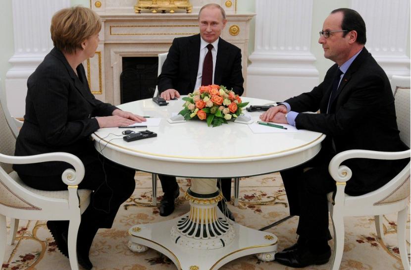 Путин, Меркель и Олланд поддержали полное прекращение огня в Донбассе с 1 сентября