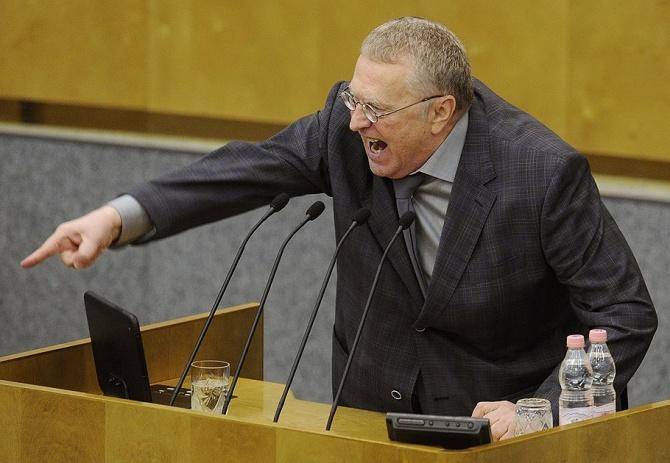 Жириновский оскорбил Ирину Роднину в Госдуме