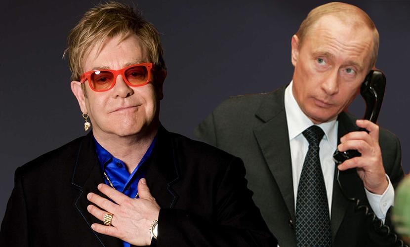 Путин позвонил Элтону Джону и согласился встретиться