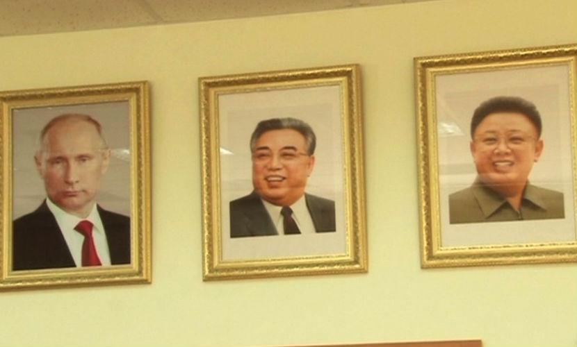 Портреты Путина и лидеров Северной Кореи повесили в школе на Дальнем Востоке