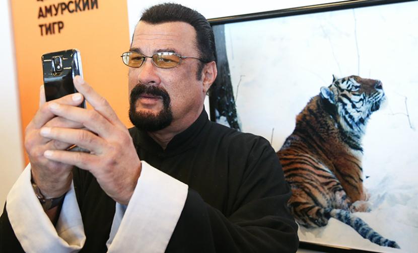 Стивен Сигал назвал дальневосточного леопарда именем жены Чингисхана