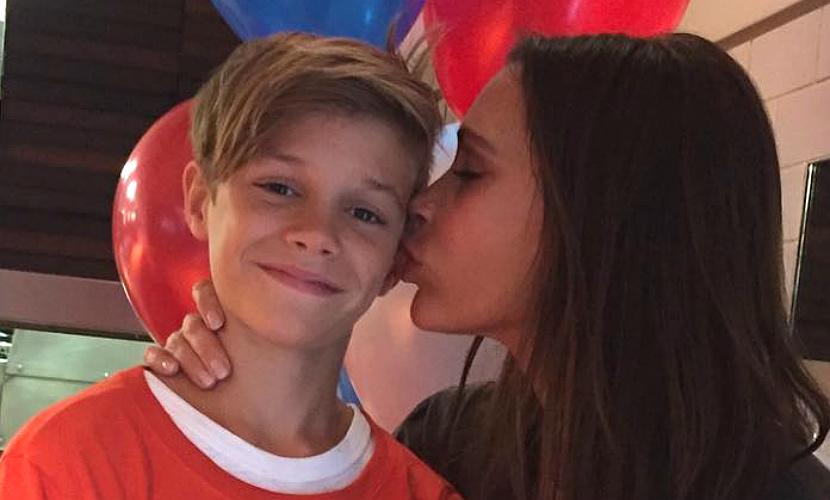 Виктория и Дэвид Бекхэм поздравили среднего сына Ромео с днем рождения