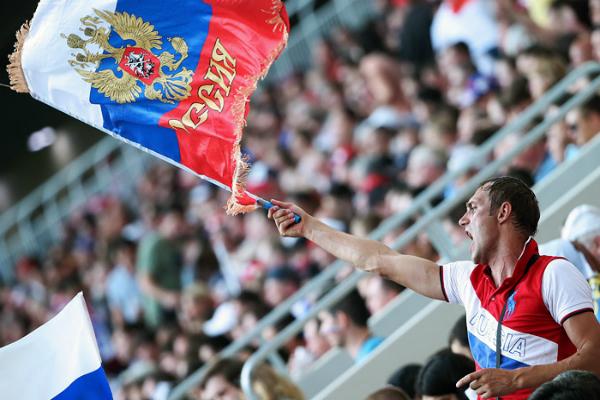 В Сети появились фото акции российских болельщиков в победном матче со Швецией