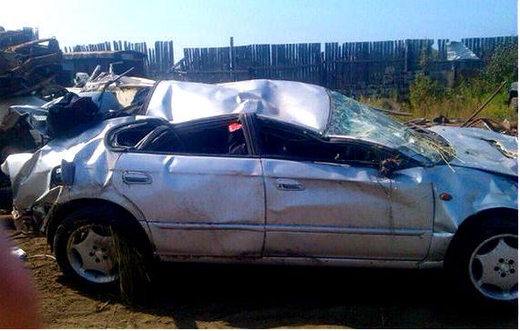 Под Сахалином в ДТП с опрокидыванием погиб водитель, пассажир в реанимации