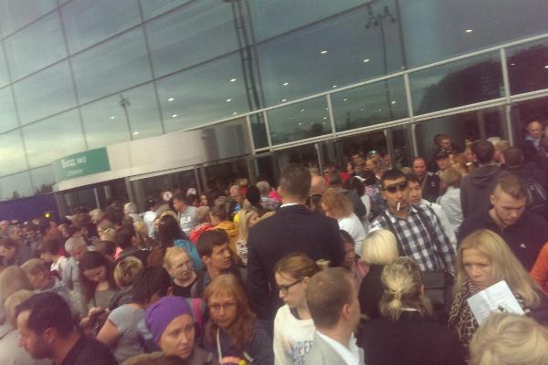 В Домодедово срочно эвакуируют людей из-за пожара