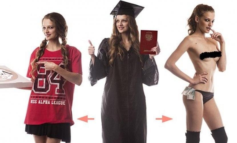 Красавица-модель из Иркутска обнажилась для студентов