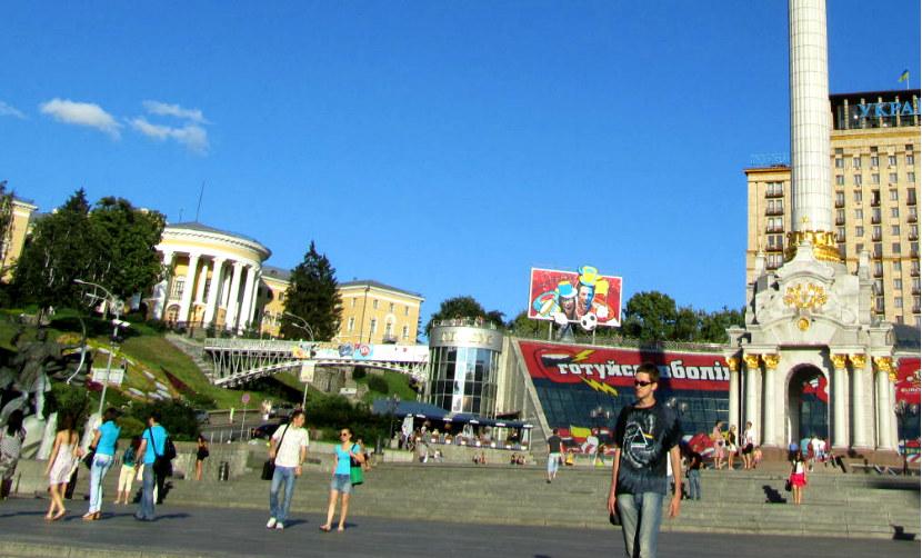 На майдане в Киеве жестоко избили актера-иностранца