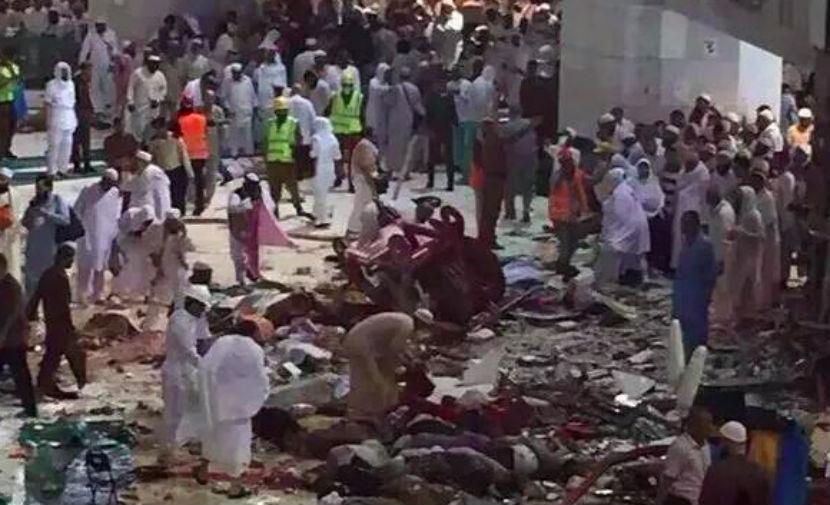 Кран упал на храм в Мекке: 52 человека погибли, 30 ранены