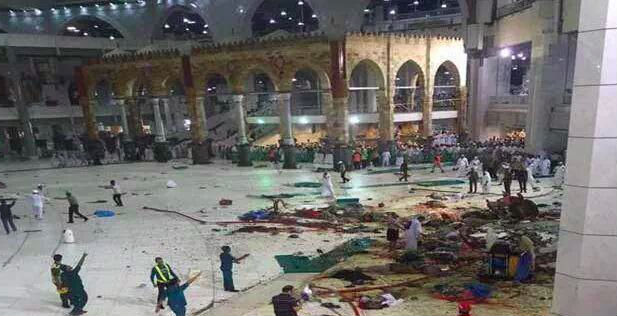 Число погибших при падении крана на мечеть в Мекке достигло 65 человек