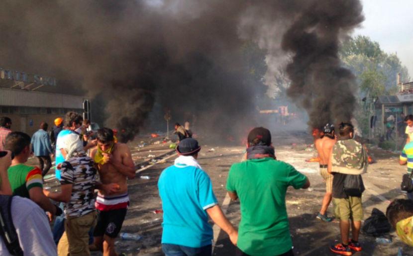 Мигранты штурмуют границу Венгрии
