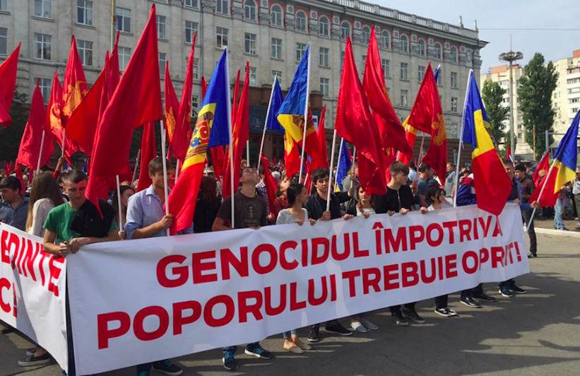 В Кишиневе начался общегражданский митинг против олигархов во власти