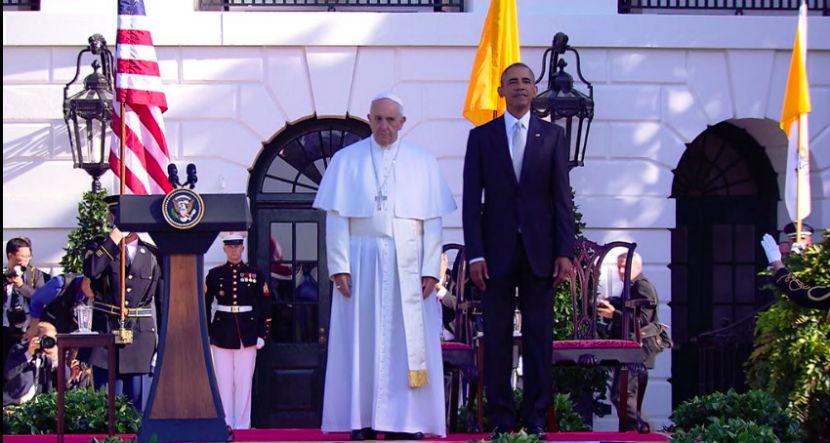 Папа римский встретился с Обамой в Вашингтоне