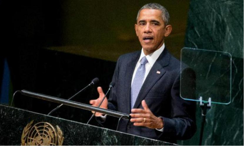 """""""Маленький"""" Обама рассмешил морпехов рассказом о своих мышцах"""