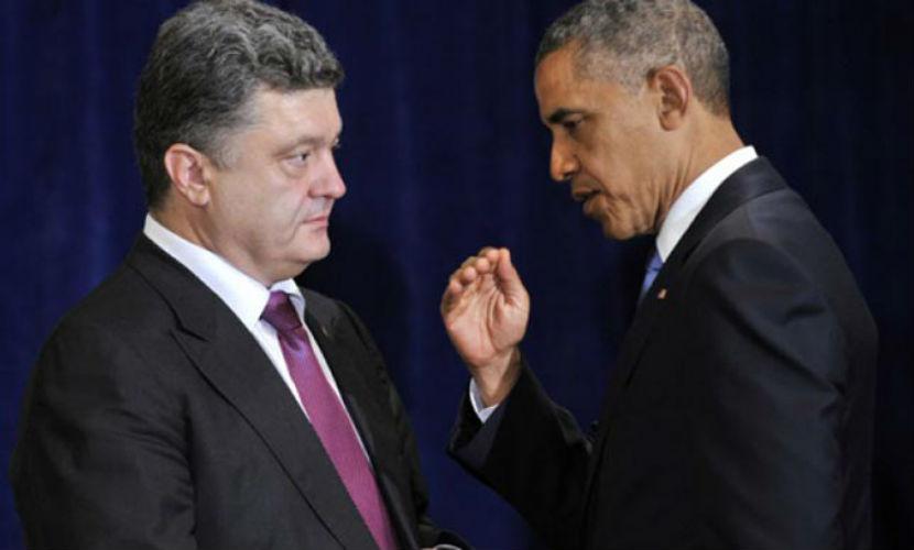 Обама пообещал Порошенко найти решение конфликта на Украине