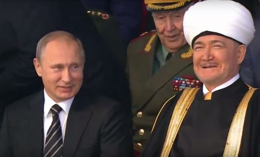 Путин открыл самую крупную мечеть в Европе