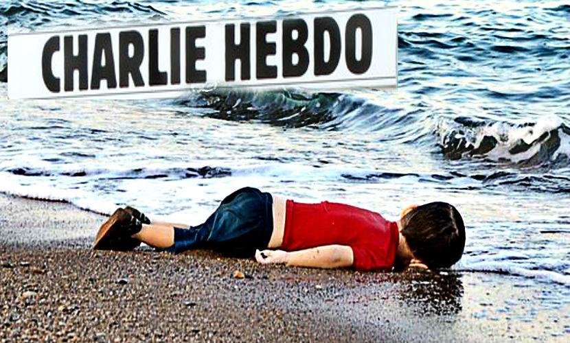 Charlie Hebdo высмеял фото мертвого мальчика-беженца и взбесил темнокожих
