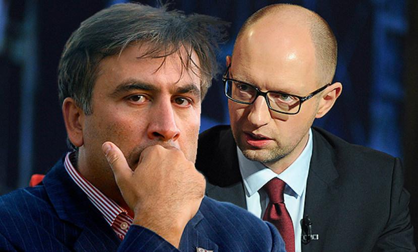 Саакашвили обвинил Яценюка в провоцировании новой волны коррупции