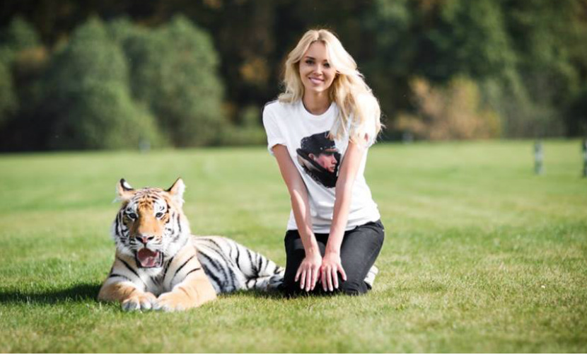 Мисс мира попросила Путина спасти измученного украинцами тигренка