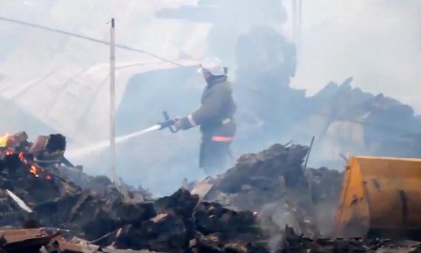 Пожар охватил поселок под Волгоградом: погиб мужчина, обгорел ребенок