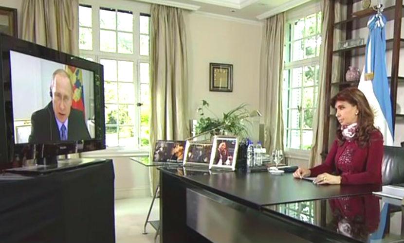 Путин похвалил Киршнер за танцы, Киршнер - Путина - за обед в Кремле