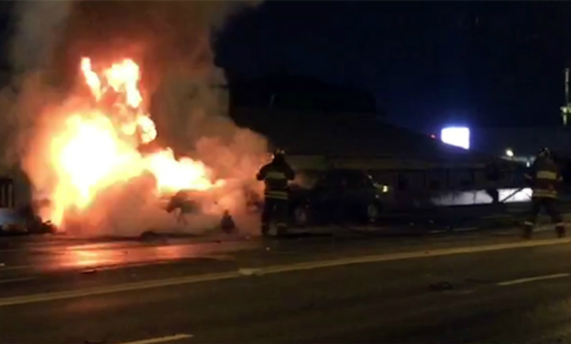 ДТП со сгоревшей Ferrari в центре Москвы устроил 17-летний водитель без прав