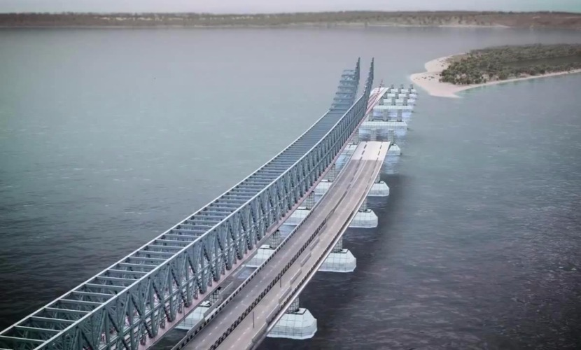 Строители сдали первый рабочий мост для строительства Керченского перехода