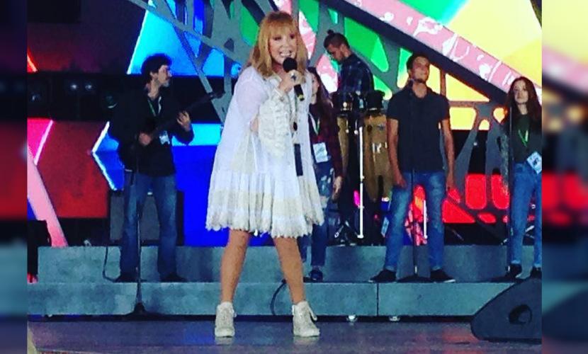 Пугачева оголила ноги на«Новой волне»