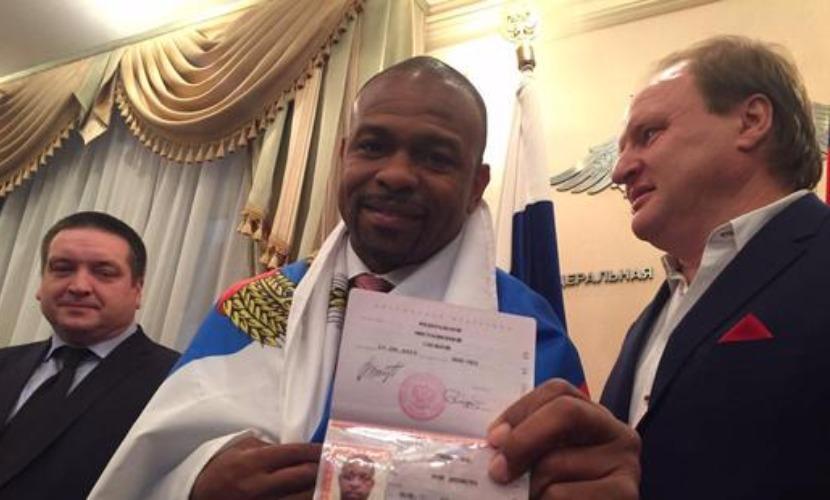 Рой Джонс стал законным владельцем паспорта гражданина Российской Федерации