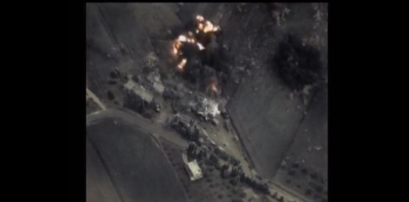 Опубликовано новое видео удара ВС России по позициям ИГ в Сирии
