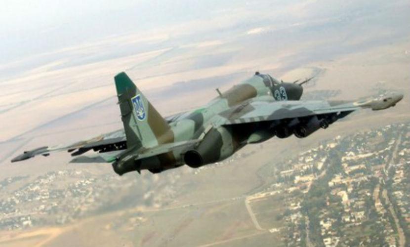 Самолет Су-25 разбился на Украине: есть погибшие