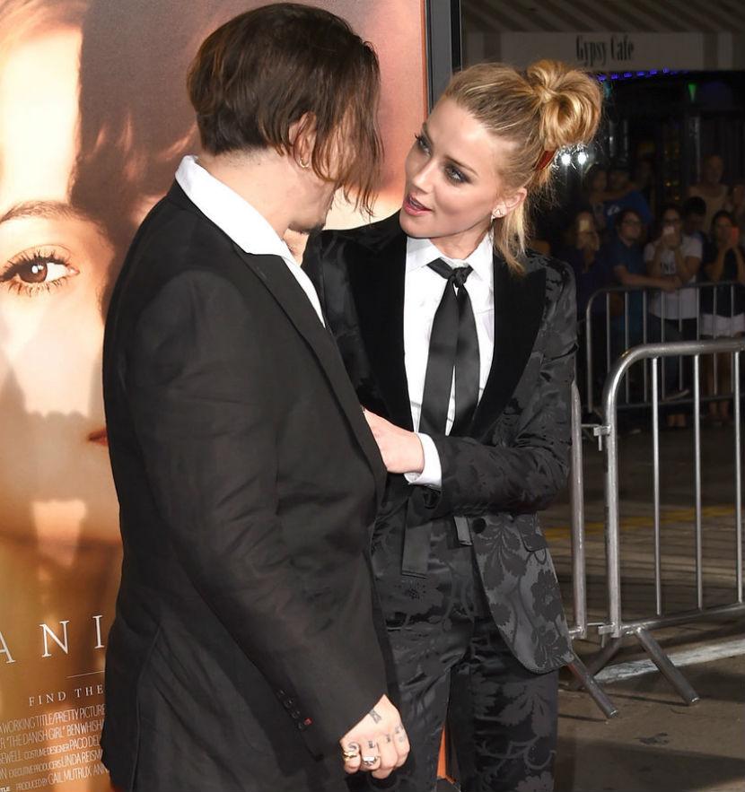 Джонни Депп и его новая жена Эмбер Херд целовались на ... джонни депп и его жена