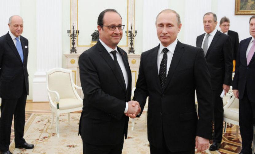 Путин и Олланд обсудили снятие санкций с России