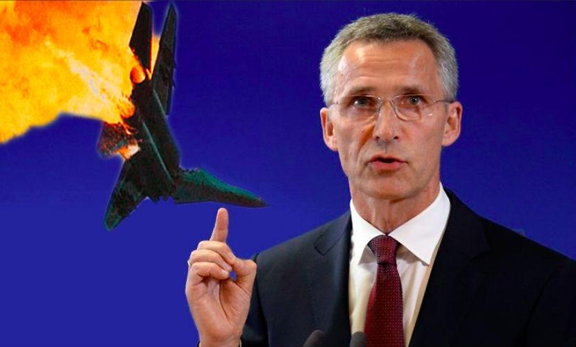 В НАТО заявили, что сбитый бомбардировщик нарушил границу Турции