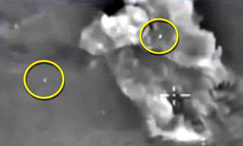 НЛО заметили на видео с ударами российских ВКС по террористам в Сирии