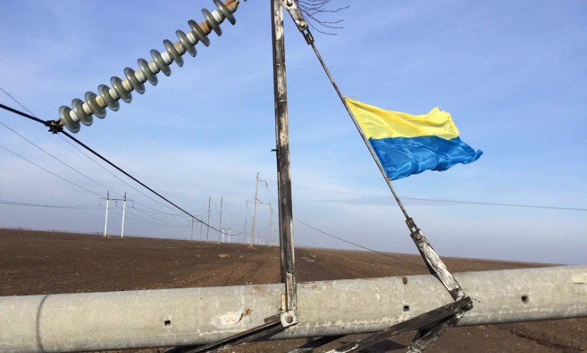 Взорванные под Херсоном опоры ЛЭП будут ремонтировать 5 дней, - Минэнергоугля Украины